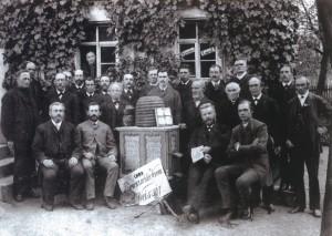 Die Vereinsgründer 1884